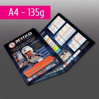 Dépliant A4 papier standard (100g à 170g)